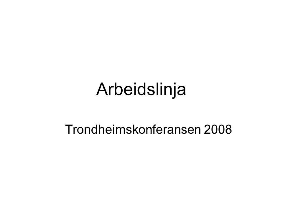 Arbeidslinja Trondheimskonferansen 2008