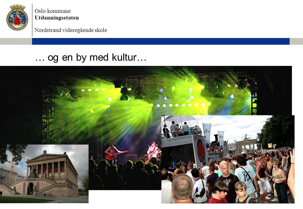 Oslo kommune Utdanningsetaten Nordstrand videregående skole 6/28/2014 Dokumentnavn 6 … og en by med kultur…