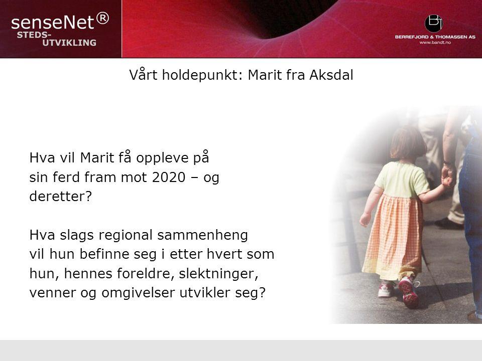 Vårt holdepunkt: Marit fra Aksdal Hva vil Marit få oppleve på sin ferd fram mot 2020 – og deretter.