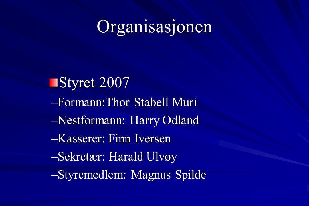 Styret 2007 –Formann:Thor Stabell Muri –Nestformann: Harry Odland –Kasserer: Finn Iversen –Sekretær: Harald Ulvøy –Styremedlem: Magnus Spilde Organisa