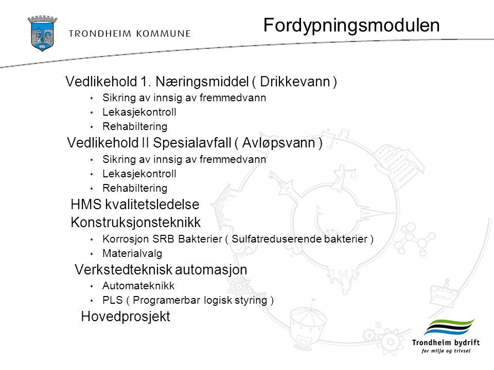Fordypningsmodulen Vedlikehold 1.