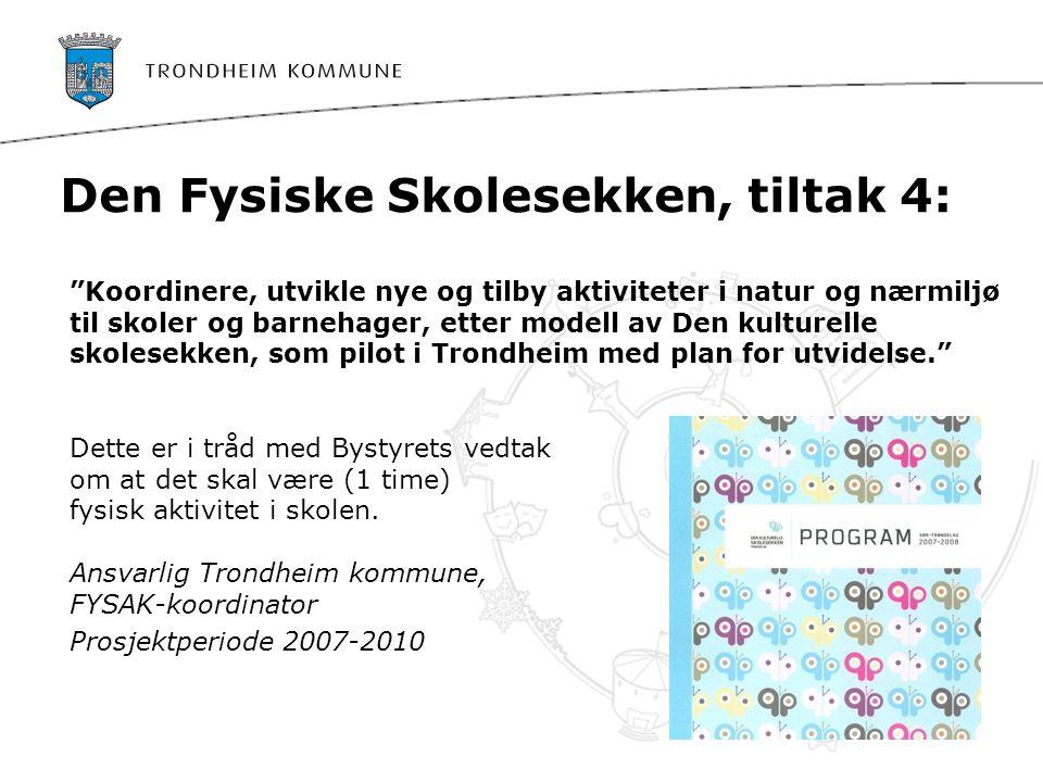 Den Fysiske Skolesekken Planlegge videreføring til andre kommuner starter høsten 2009.