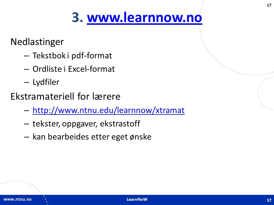 LearnNoW 17 3.