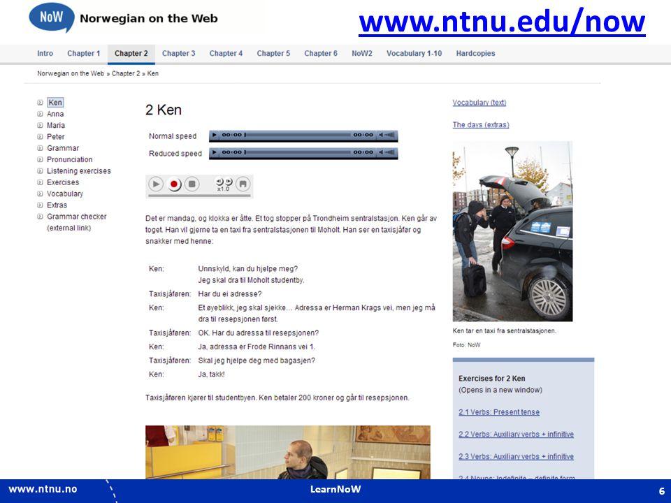 LearnNoW 6 www.ntnu.edu/now 6