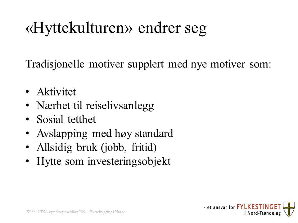 Hvor bygger folk fra Trondheim hytter i Nord- Trøndelag?