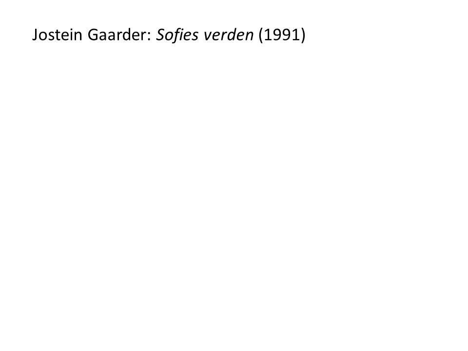 Jostein Gaarder: Sofies verden (1991)