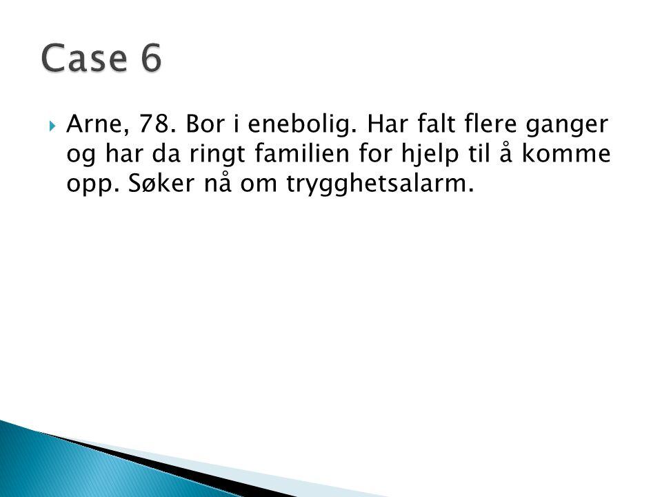 Arne, 78.Bor i enebolig.