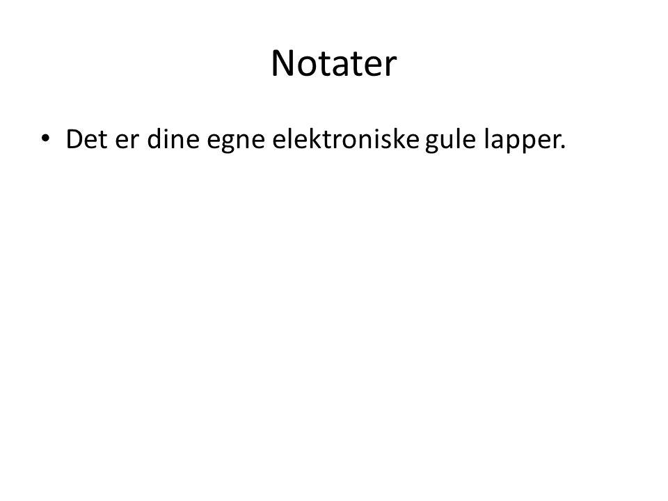 Notater • Det er dine egne elektroniske gule lapper.