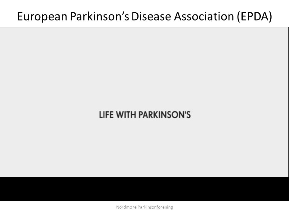 Nordmøre Parkinsonforening European Parkinson's Disease Association (EPDA)