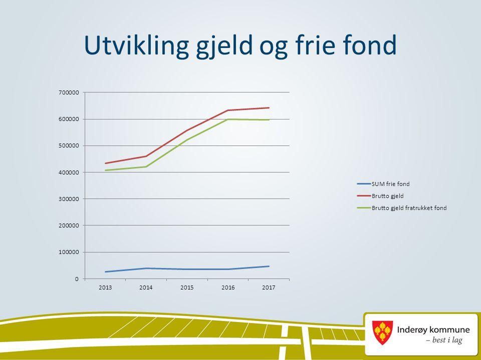 Utvikling gjeld og frie fond