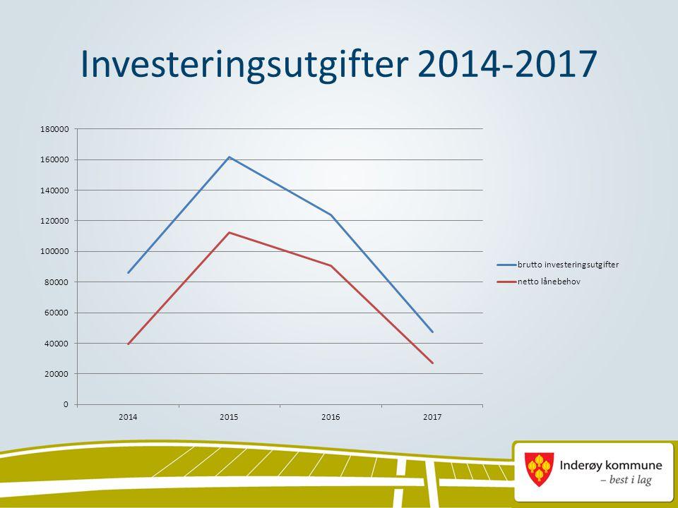 Investeringsutgifter 2014-2017