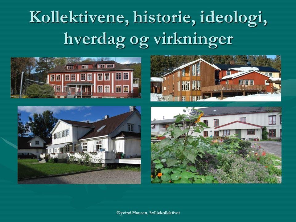 Kollektivene, historie, ideologi, hverdag og virkninger Øyvind Hansen, Solliakollektivet