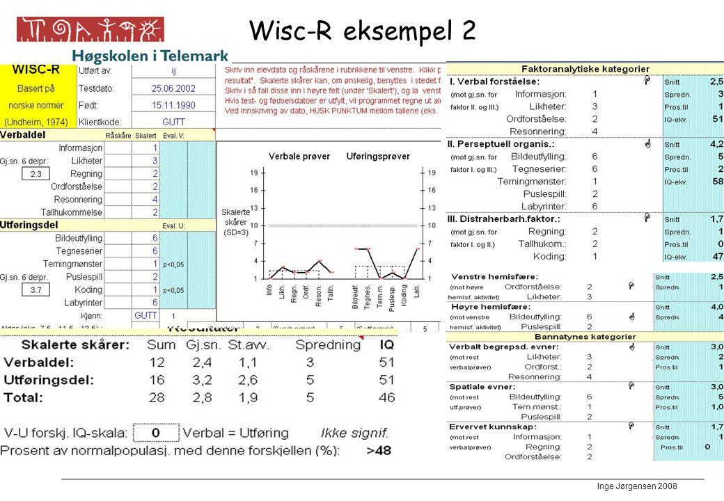 Inge Jørgensen 2008 Wisc-R eksempel 2