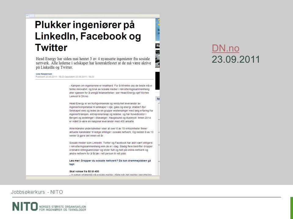 Jobbsøkerkurs - NITO DN.no 23.09.2011