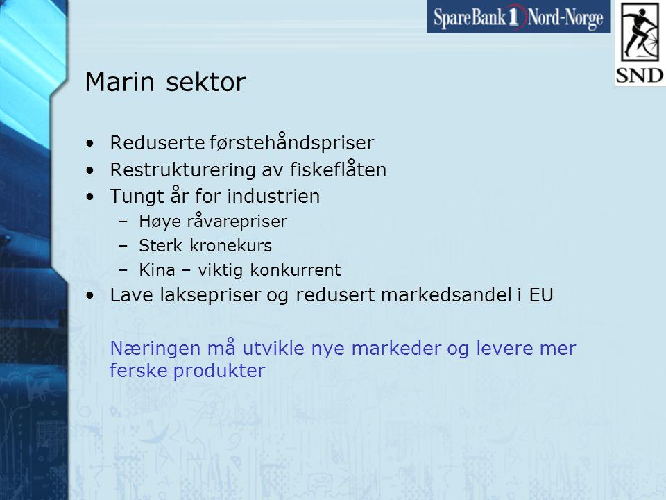 Side19 www.snn.no Marin sektor •Reduserte førstehåndspriser •Restrukturering av fiskeflåten •Tungt år for industrien –Høye råvarepriser –Sterk kronekurs –Kina – viktig konkurrent •Lave laksepriser og redusert markedsandel i EU Næringen må utvikle nye markeder og levere mer ferske produkter