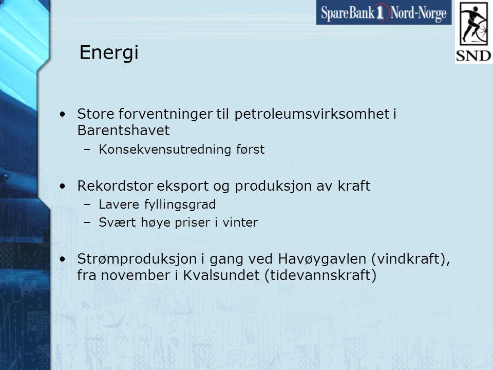 Side25 www.snn.no Energi •Store forventninger til petroleumsvirksomhet i Barentshavet –Konsekvensutredning først •Rekordstor eksport og produksjon av kraft –Lavere fyllingsgrad –Svært høye priser i vinter •Strømproduksjon i gang ved Havøygavlen (vindkraft), fra november i Kvalsundet (tidevannskraft)
