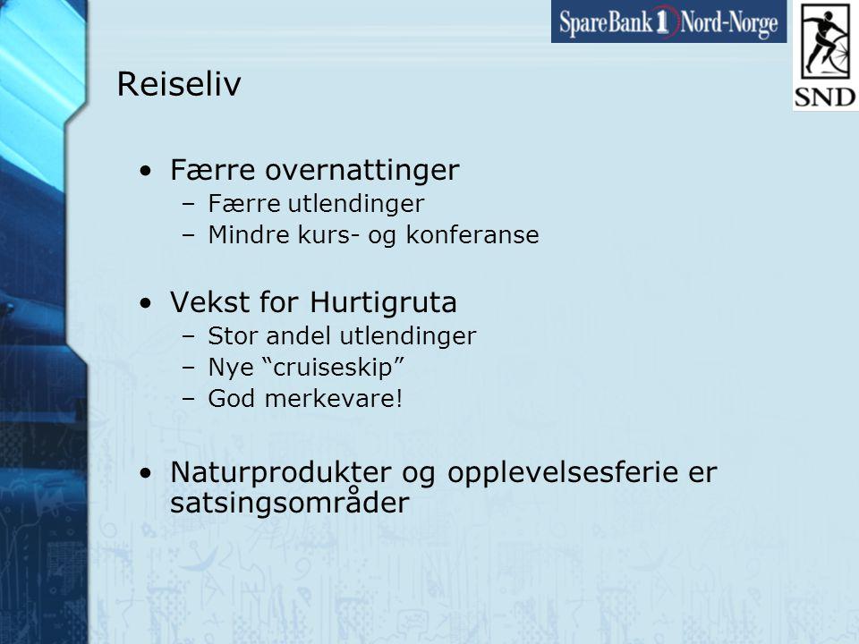 Side28 www.snn.no Reiseliv •Færre overnattinger –Færre utlendinger –Mindre kurs- og konferanse •Vekst for Hurtigruta –Stor andel utlendinger –Nye cruiseskip –God merkevare.