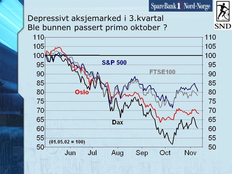 Side5 www.snn.no Depressivt aksjemarked i 3.kvartal Ble bunnen passert primo oktober