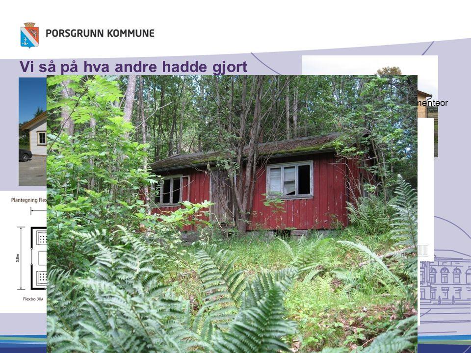 Vi så på hva andre hadde gjort Flexbo Oslo Småhus i Trondheim Småhus i Skien Malthus Implementeor