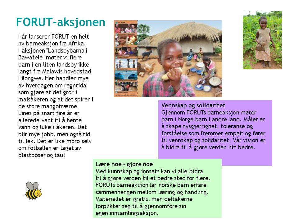 FORUT-aksjonen LANDSBYBARNA I BAWATELE I år lanserer FORUT en helt ny barneaksjon fra Afrika.