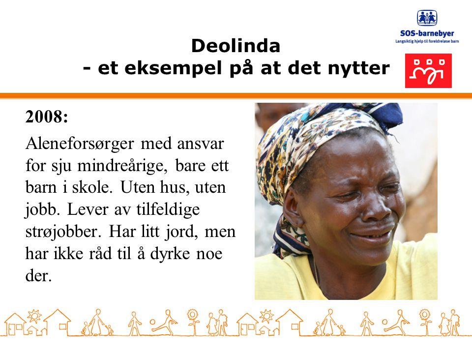 Deolinda - et eksempel på at det nytter 2008: Aleneforsørger med ansvar for sju mindreårige, bare ett barn i skole. Uten hus, uten jobb. Lever av tilf
