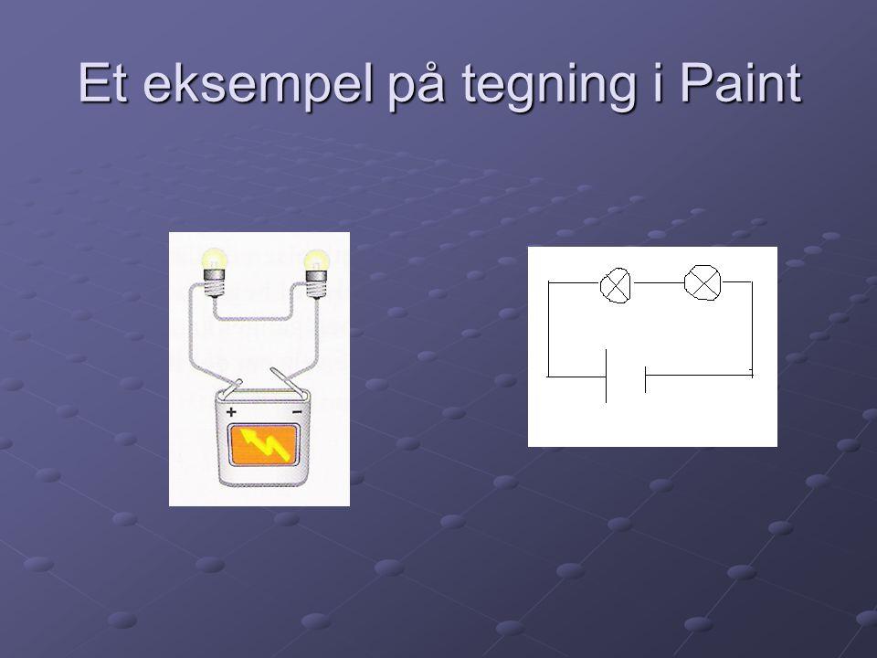 Et eksempel på tegning i Paint