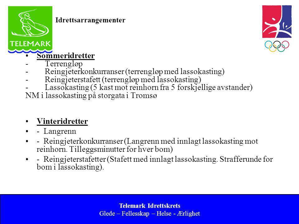 Norges idrettsforbund og olympiske og paralympiske komité 26 Idrettsarrangementer •Sommeridretter - Terrengløp - Reingjeterkonkurranser (terrengløp me
