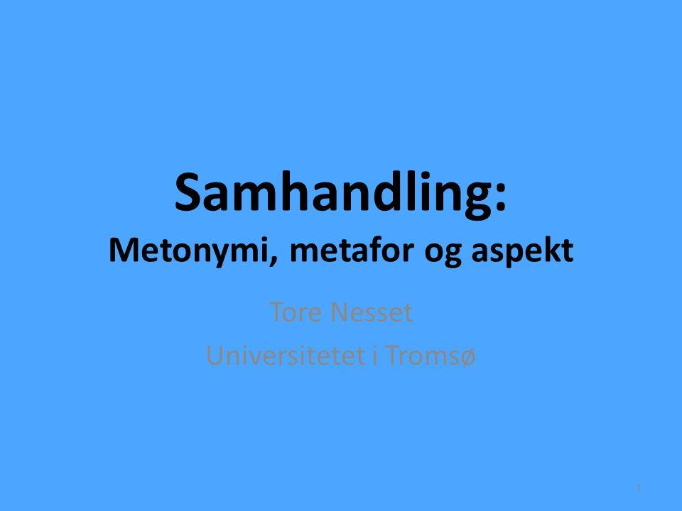 Samhandling: Metonymi, metafor og aspekt Tore Nesset Universitetet i Tromsø 1