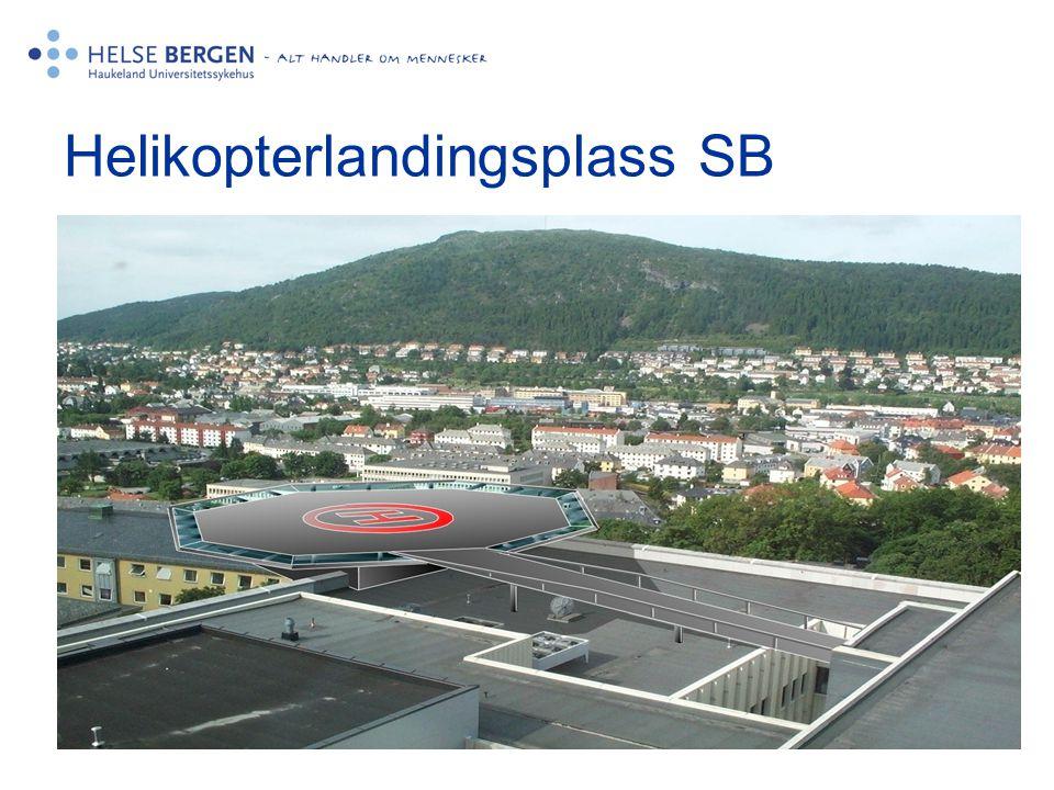 Helikopterlandingsplass SB •