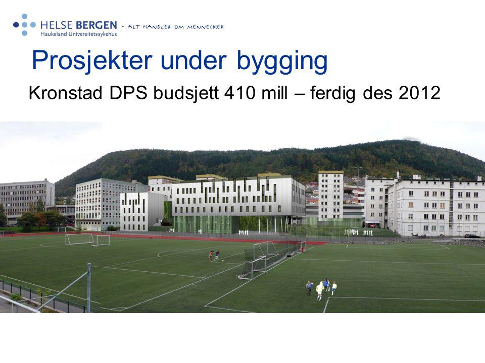 Prosjekter under bygging Kronstad DPS budsjett 410 mill – ferdig des 2012