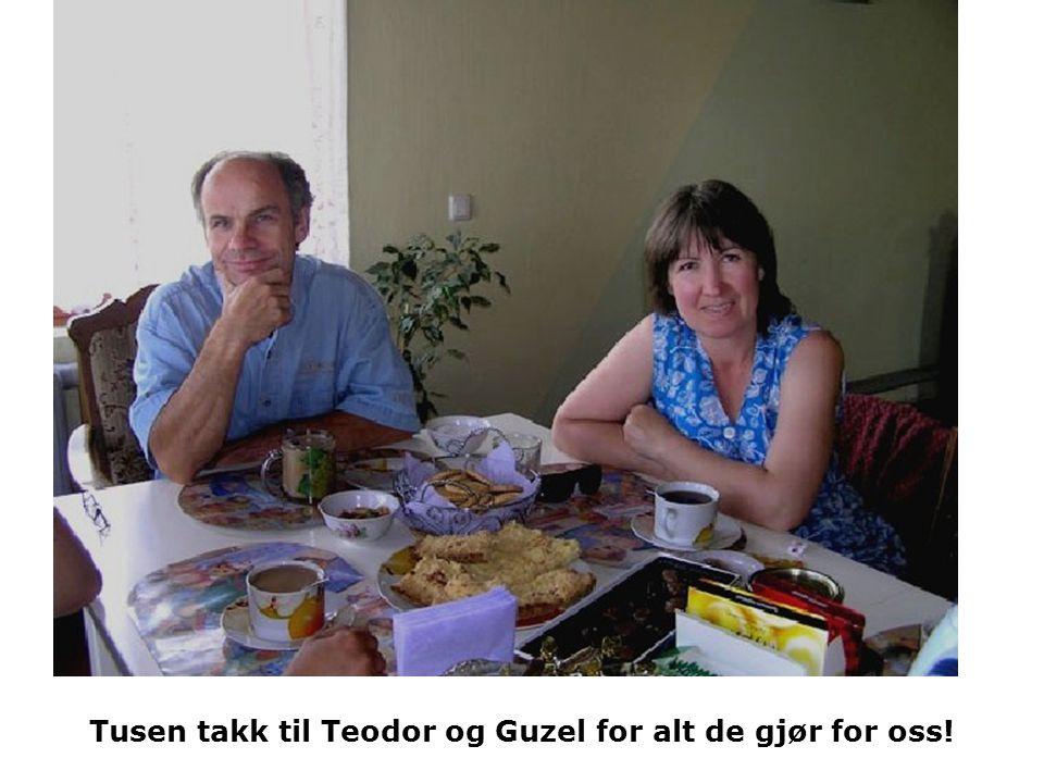 Tusen takk til Teodor og Guzel for alt de gjør for oss!