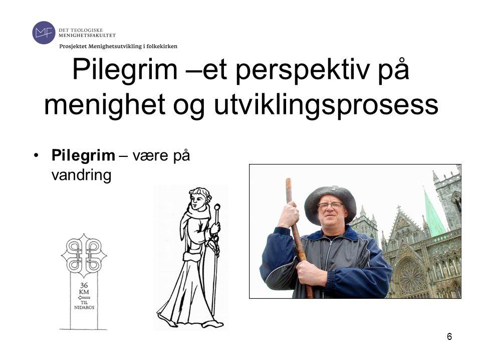 Pilegrim –et perspektiv på menighet og utviklingsprosess •Pilegrim – være på vandring 6
