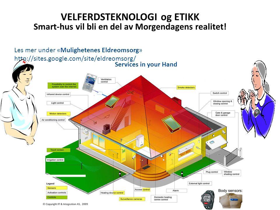VELFERDSTEKNOLOGI og ETIKK Smart-hus vil bli en del av Morgendagens realitet.