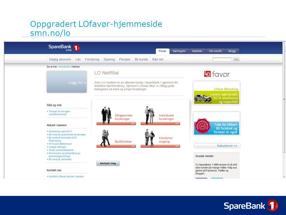 Oppgradert LOfavør-hjemmeside smn.no/lo