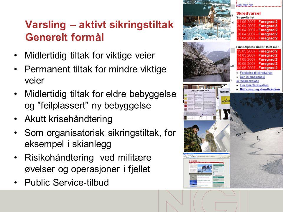 Varsling Plassering av Fonnbu ved Rv15 •Dalstasjon (Fonnbu) •Toppstasjon Skredområde •Strynefjellsvegen