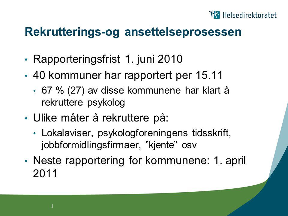 | Rekrutterings-og ansettelseprosessen • Rapporteringsfrist 1.