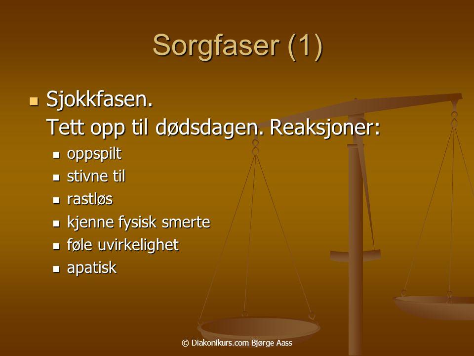 © Diakonikurs.com Bjørge Aass Sorgfaser (1)  Sjokkfasen.