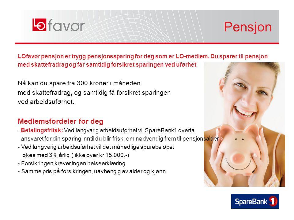 LOfavør pensjon er trygg pensjonssparing for deg som er LO-medlem.