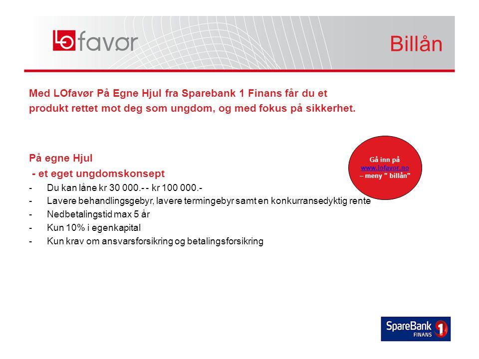 Med LOfavør På Egne Hjul fra Sparebank 1 Finans får du et produkt rettet mot deg som ungdom, og med fokus på sikkerhet.