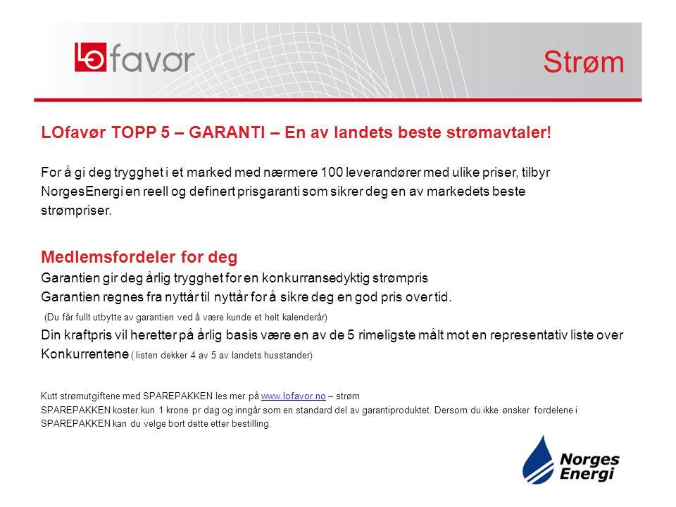LOfavør TOPP 5 – GARANTI – En av landets beste strømavtaler.
