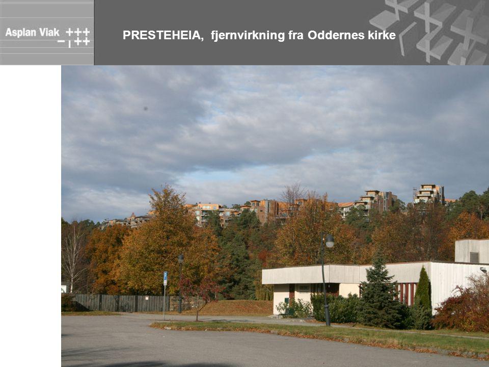 PRESTEHEIA, fjernvirkning fra Oddernes kirke