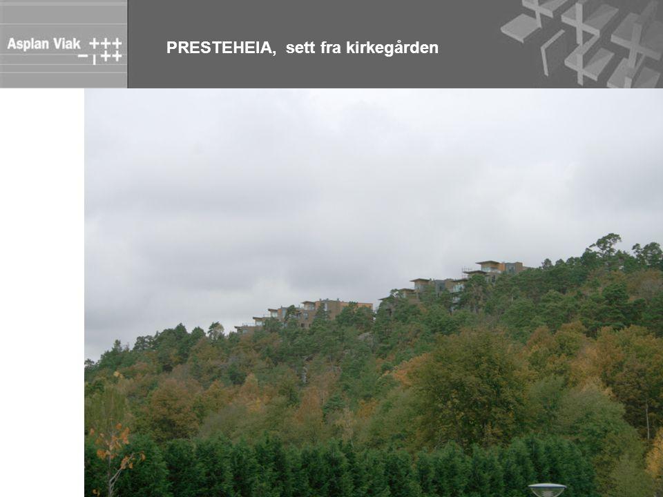 PRESTEHEIA, sett fra kirkegården