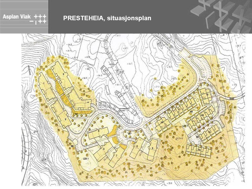 PRESTEHEIA, situasjonsplan