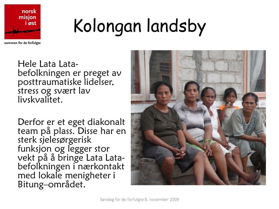 Kolongan landsby Hele Lata Lata- befolkningen er preget av posttraumatiske lidelser, stress og svært lav livskvalitet.