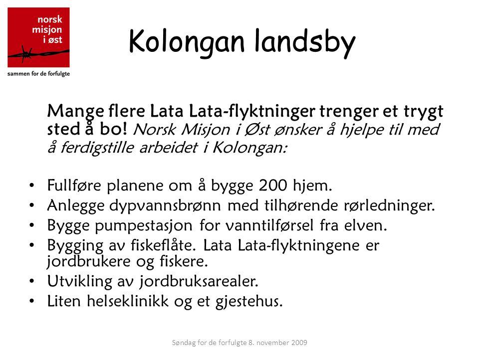 Kolongan landsby Mange flere Lata Lata-flyktninger trenger et trygt sted å bo.