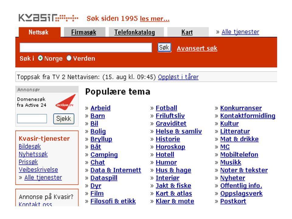 HTML •Fanekortet HTML kan brukes for å se hvordan BokSurf vil se ut i formatet som brukes i websøk.