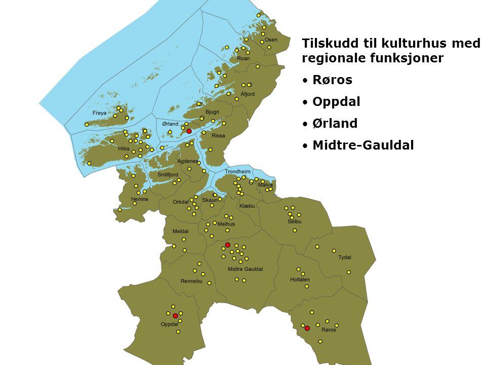 Tilskudd til kulturhus med regionale funksjoner • Røros • Oppdal • Ørland • Midtre-Gauldal
