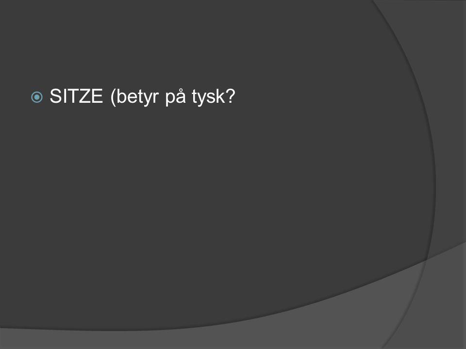  SITZE (betyr på tysk?