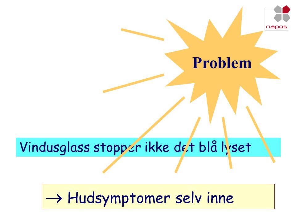 Vindusglass stopper ikke det blå lyset Problem  Hudsymptomer selv inne