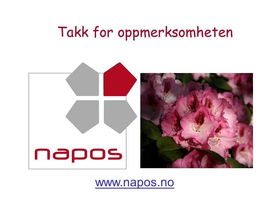 Takk for oppmerksomheten www.napos.no